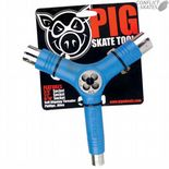 "PIG SKATEBOARDS ""Skate Tool"" Skateboard Tools BLUE Axle Threader Roller Derby Rollerskate"